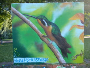 Graffiti Kolibri 24h-Galerie Regensburg