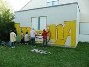Graffitiworkshop kinder üben