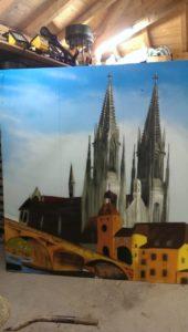 Graffitiauftrag Dom und Steinerne Brücke