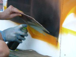 Graffitiauftrag Detailarbeit