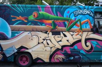 Graffitiauftrag Wohnmobil Manchester