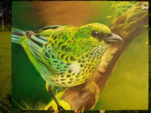 Graffiti Leinwand Paradiesvogel