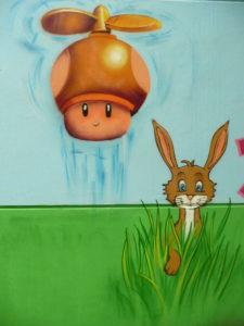 Graffitiauftrag Fliegender Pilz