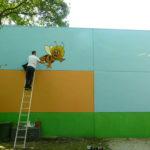 Wandverschönerung – Kunstam Spielplatz
