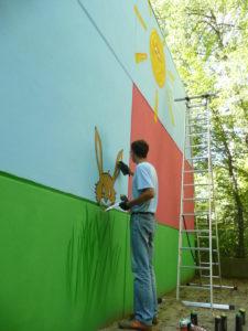 Graffitiauftrag Lenny malt