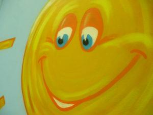 Graffitiauftrag Sonne