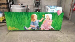 Graffitiauftrag Mädchen