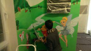 Graffitiauftrag Zahnarzt arbeit