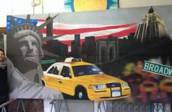 Graffitiauftrag New York Atelier 2