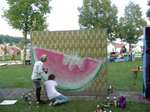 Graffiti Wassermelone