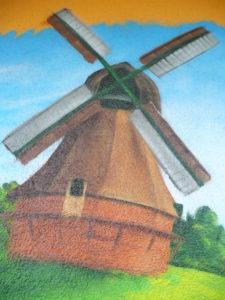 Graffitiauftrag Windmühle Ebner