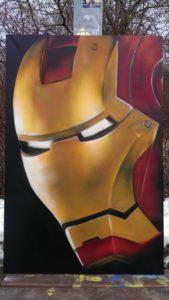 Graffiti Leinwand Iron Man
