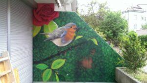 Graffitiauftrag Terrasse Geheimer Garten