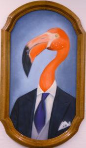 Graffiti Leinwand Flamingo