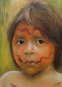 Graffiti Leinwand Yanomami 1
