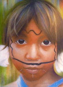 Graffiti Leinwand Yanomami 2