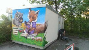 Graffitiauftrag Melanchthon nachher