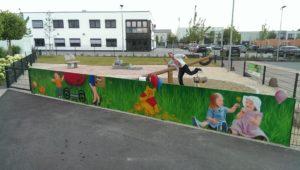 Graffitiauftrag Ebner Spielplatz front