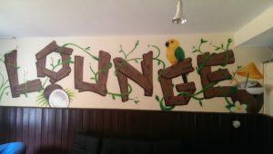 Graffitiauftrag Innenraum Lounge Juz Arena