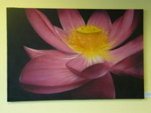 Graffiti Leinwand Lotus Rosa