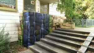 Graffitiauftrag Wasserfall Melanchthonheim