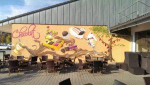 Graffitiauftrag Café Chocolat Tegernheim