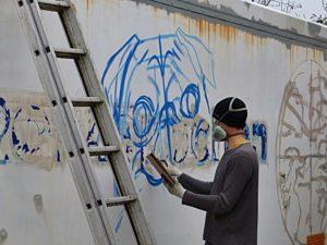Graffiti Mops_vorzeichnen