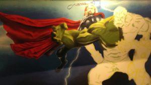 Graffitiauftrag Thor fast fertig