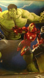 Graffitiauftrag Ironman und Hulk