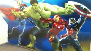Graffitiauftrag Avengers von rechts
