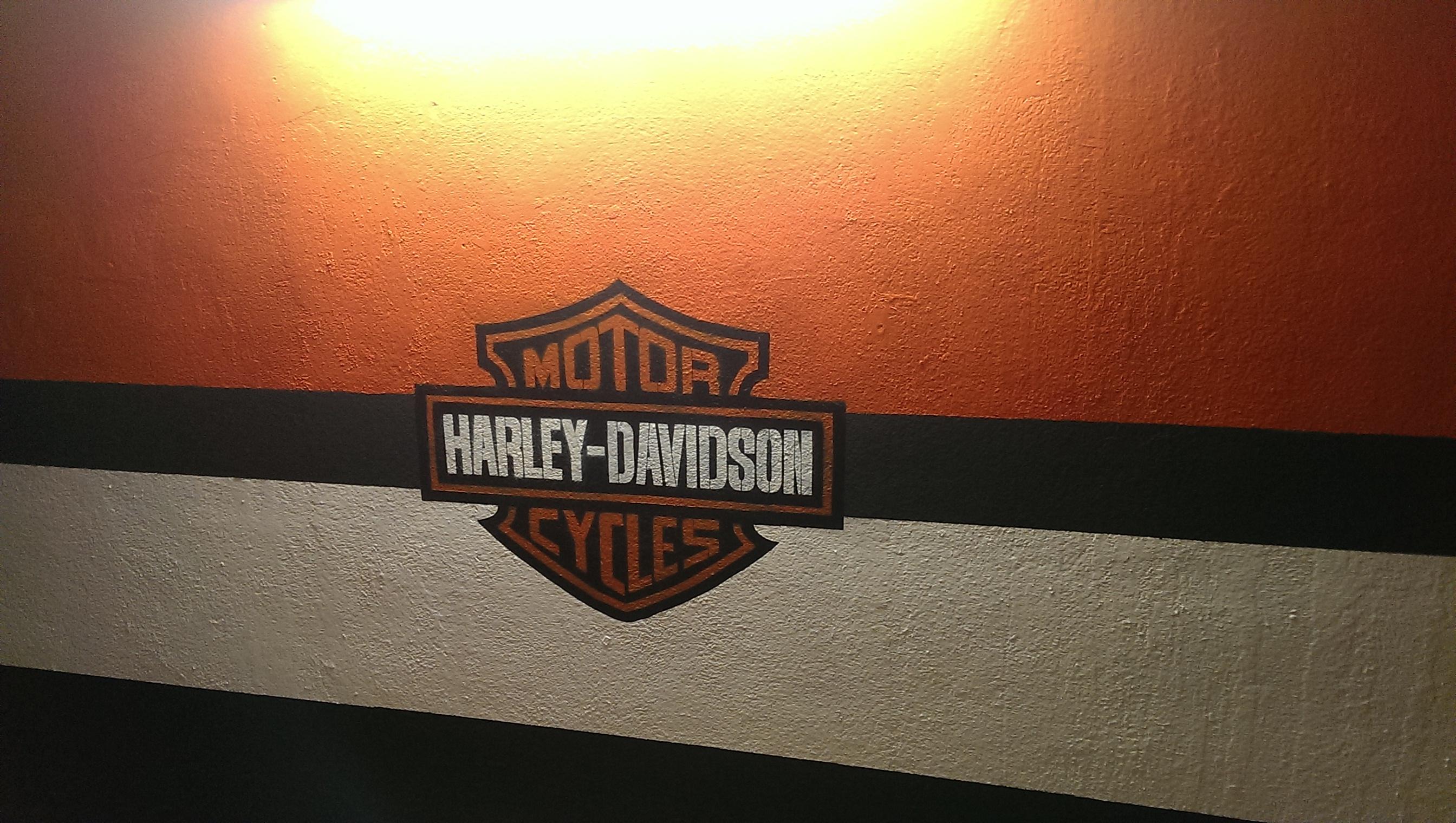 Harley davidson graffiti logo
