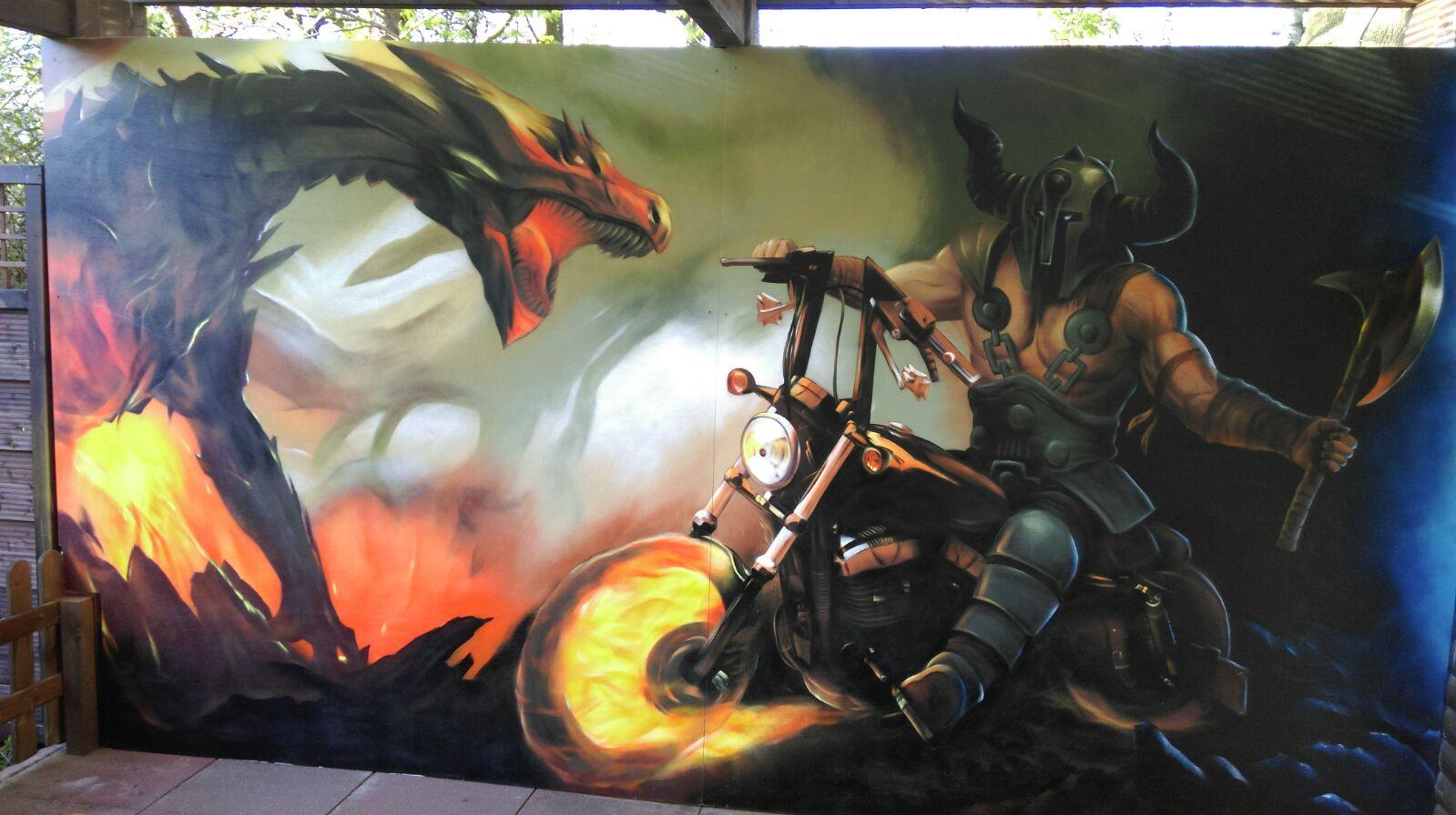 Harley davidson graffiti terrasse