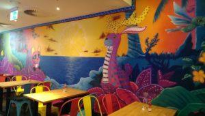 Graffitiauftrag Innenraum Restaurant mitte