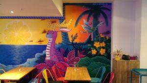 Graffitiauftrag Innenraum Restaurant rechts