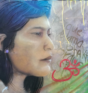 Graffiti Leinwand Bhakti
