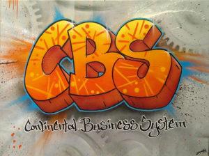 Graffitiauftrag Leinwand CBS Continental