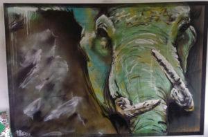 Graffiti Leinwand Elefant Graffiti Style