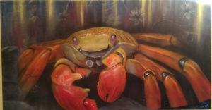 Graffiti Leinwand Galapagos Krabbe 2