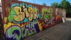 Graffitiauftrag Container Styles Glöckl 1
