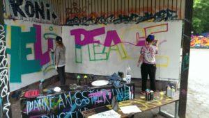 Graffiti Workshop Königswiesen Sprühen