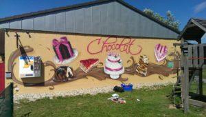 Graffitiauftrag Chocolat Wand 2