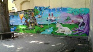 Graffitiauftrag Kinsergarten Fantasiewelt