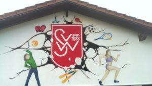 Graffitiauftrag Sportverein Logo