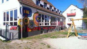 Graffitiauftrag Kindergarten Hauswand 2