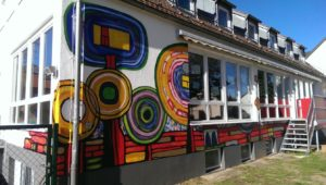 Graffitiauftrag Kindergarten Hauswand 1