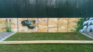 Graffitiauftrag Gartenmauer 2