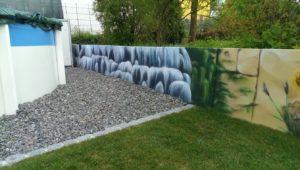 Graffitiauftrag Gartenmauer 4