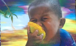 Graffiti Leinwand Oscar ist Mango