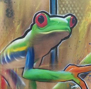 Graffiti Leinwand Streerart Frosch Graffiti