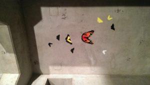 Graffitiauftrag Streetart Stencil Schmetterlinge 3